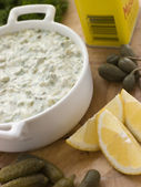 Making Tartare Sauce — Stock Photo