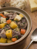 Welsh Cawl in a Casserole Pot — Stock Photo