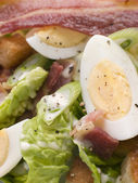 Bacon and Egg Salad — Stock Photo