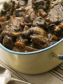 Winter Game Casserole In a Casserole Dish — Stock Photo
