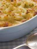 Dish of Macaroni Cheese — Stock Photo