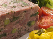 Jellied Gammon and Leek Terrine with Piccalilli — Stock Photo