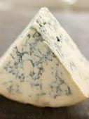 Wedge of English Stilton Cheese — Stock Photo