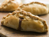 Traditional Cornish Pasties — Stock Photo