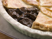 Steak and Ale Pie with Short Crust Pastry — Stock Photo