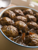 Beef Stew and Herb Dumplings — Stock Photo