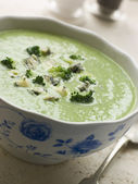 Bowl of Broccoli and Stilton Soup — Stock Photo