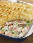 Fishmongers Pie — Stock Photo