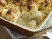 Serving of Cauliflower Cheese — Stock Photo
