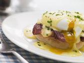 Plate of Eggs Benedict — Stock Photo