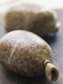 Whole Haggis on a Chopping Board — ストック写真