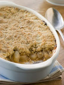 Dish of Apple Crumble — Stock Photo