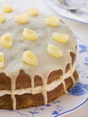 Lemon Drizzle Cake — Stock Photo