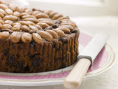 Dundee Cake on a Plate — Stock Photo