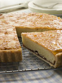 Slice of Bakewell Tart — Stock Photo