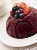 Traditional Summer Pudding — Stock Photo