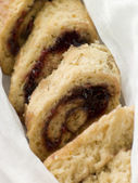 Jam Roly Poly in Muslin — Stock Photo