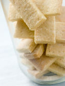 Jar of Shortbread Finger Biscuits — Stock Photo
