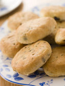 Plate of Eccles Cakes — Stock Photo