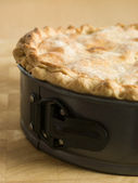 Deep Apple Pie in a Baking Tin — Stock Photo