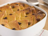 Bread and Butter Pudding in a Dish — Stock Photo
