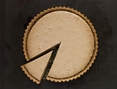 Whole Gypsy Tart with a Slice — Stock Photo