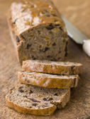 Slices from a Loaf of Bara Brith — Stock Photo