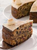 Slice of Simnel Cake — Stock Photo