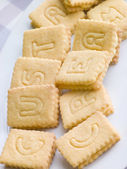 Custard Cream Biscuits — Stock Photo