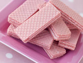 Pink Wafer Biscuits — Stock Photo