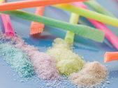 Different Coloured Sherbet — Stock Photo