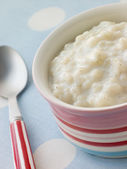Bowl of Creamed Rice Pudding — Stock Photo