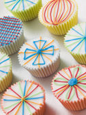 Kaliedoscope Cup Cakes — Stock Photo