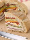 Stuffed Loaf Sandwich — Stock Photo