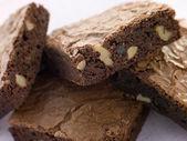 Chocolate Nut Brownies — Stock Photo