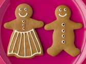 Gingerbread Man and Gingerbread Woman — Stock Photo