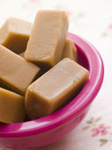 Dish of Vanilla Fudge — Stock Photo