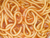 Spaghetti in Tomato Sauce — Stock Photo