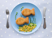 Fish Cakes with Vegetables — Stock Photo
