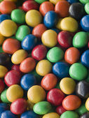 Candy coated Chocolate Drops — Stock Photo