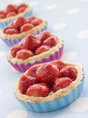 Strawberry Custard Tarts — Stock Photo