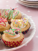 Butterfly Cup Cakes — Stock Photo