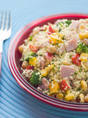 Ham and Vegetable Cous Cous — Stock Photo