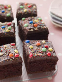 Chocolate Square Tray Cake — Stock Photo