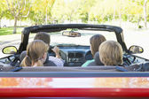 Family in convertible car — Stock Photo