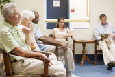 Five waiting in waiting room — Foto Stock