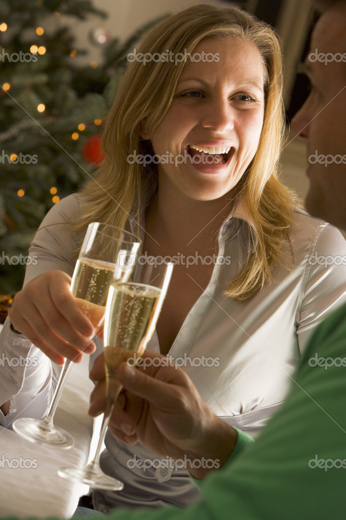 Drinking Champagne — Stock Photo #4765492
