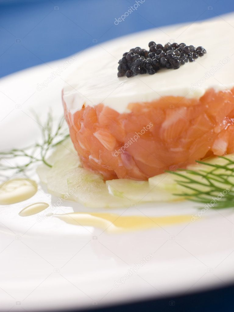 Salmon With Thyme And Three-Lemon Creme Fraiche Recipes — Dishmaps