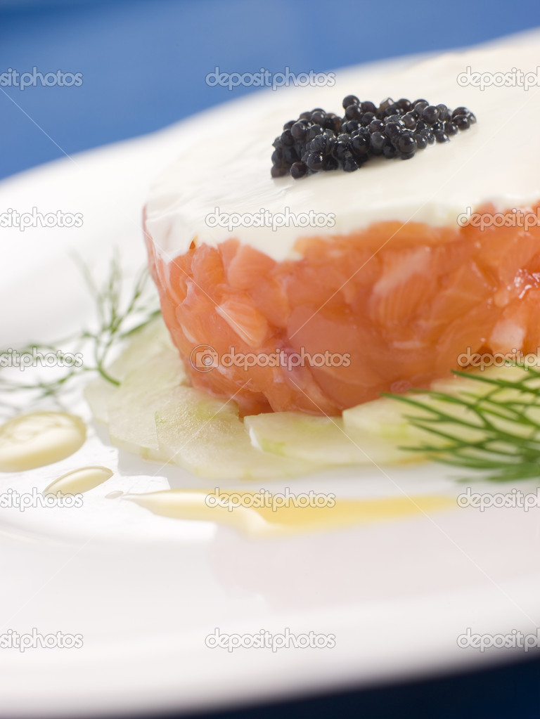 ... creme fraiche recipes dishmaps salmon with thyme and three lemon creme