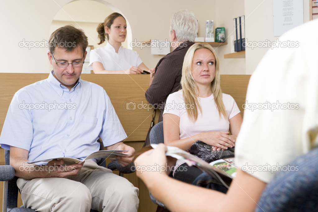 Waiting room and reception desk  Stock Photo #4769412